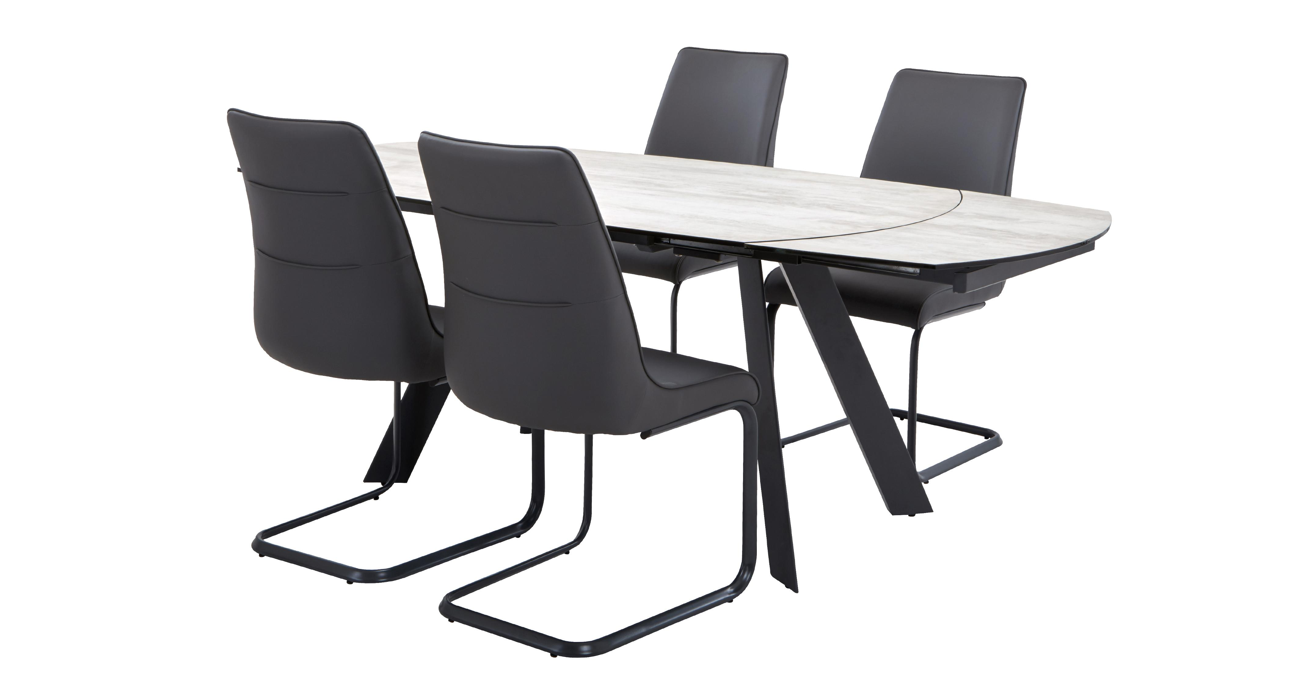 Dorada Extending Dining Table & Set of 4 Chairs | DFS Ireland