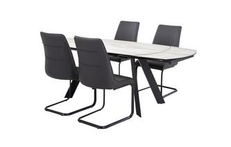 Extending Dining Table & Set of 4 Chairs Dorada