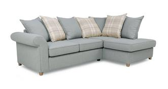 Dorset Left Hand Facing Arm Pillow Back Corner Sofa Bed
