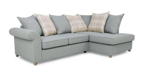 Dorset Left Hand Facing Arm Pillow Back Corner Sofa Bed