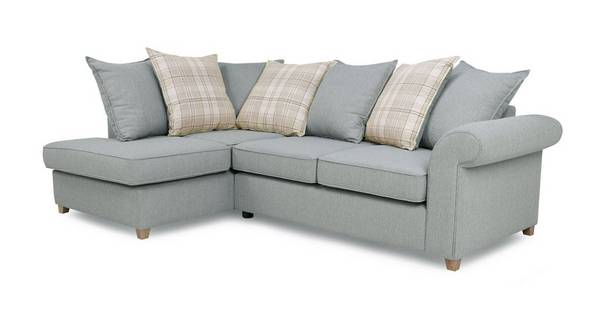 Dorset Right Hand Facing Arm Pillow Back Corner Sofa Bed