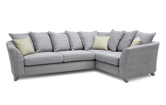 Pillow Back Left Hand Facing 3 Seater Corner Sofa Burlington