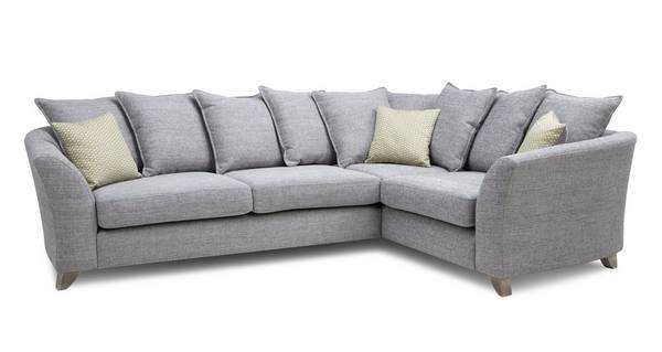 Dovedale Pillow Back Left Hand Facing 3 Seater Corner Sofa