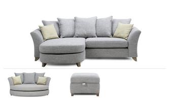 4 Seater Lounger, Cuddler & Stool