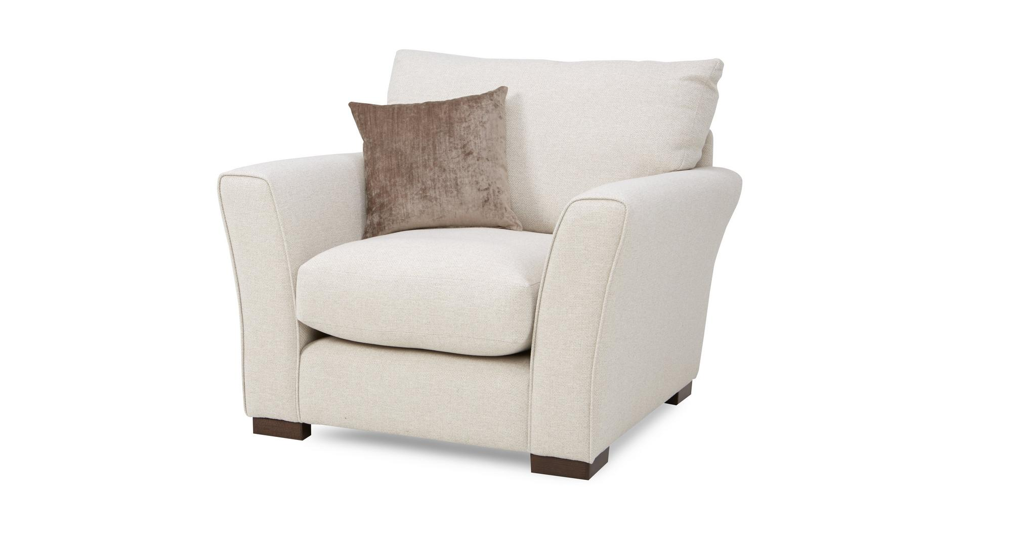 Dfs Dream Natural Cream Fabric Corner Sofa 2 X Armchairs