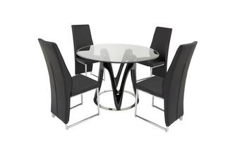 Fixed Table & Set of 4 Chairs Drift Chair