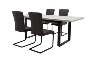 Rectangular Extending Table and Set of 4 Chairs