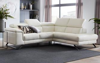Durini Option A Left Hand Facing Arm 2 Piece Corner Sofa New Club