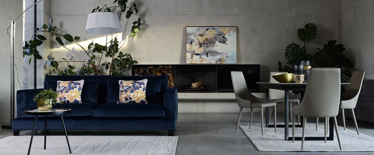 Reno table with Bergen Sofa
