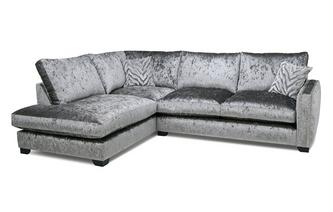 Formal Back Right Hand Facing Arm 3 Seat Corner Sofa Dynasty