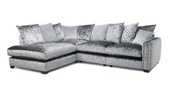 Dynasty Pillow Back Right Hand Facing Arm Seat Corner Sofa