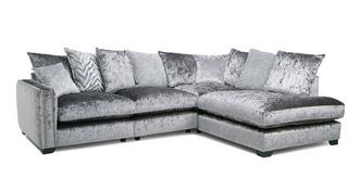 Dynasty Pillow Back Left Hand Facing Arm 2 Seat Corner Sofa