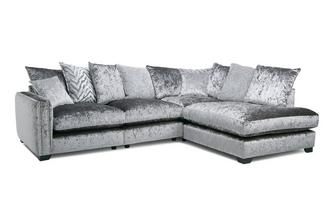 Pillow Back Left Hand Facing Arm 2 Seat Corner Sofa Dynasty