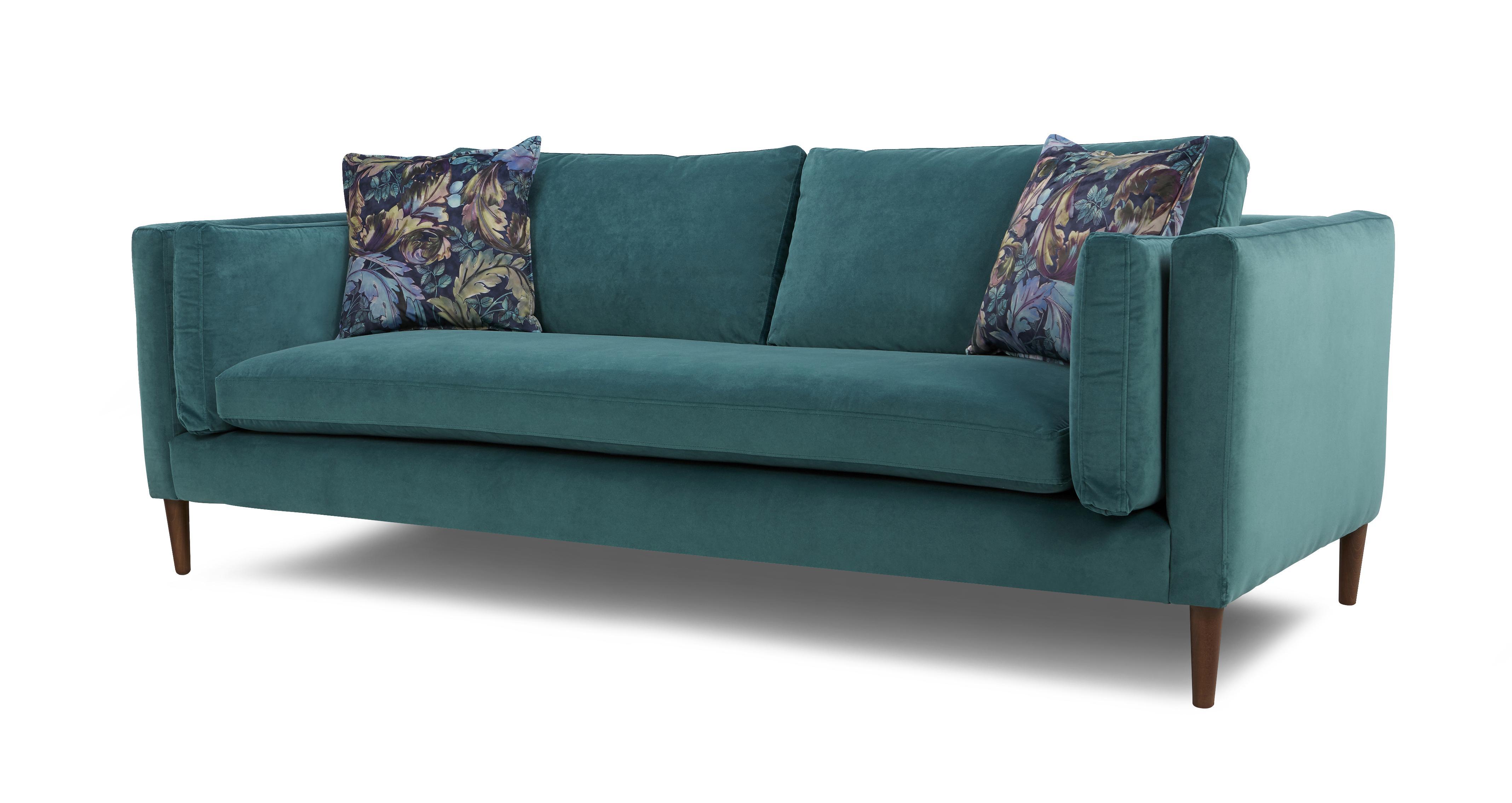 Eden Large Sofa Luxe Velvet Dfs
