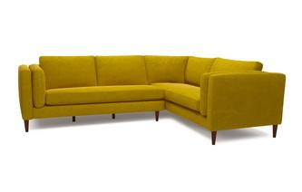 Eden Left Hand Facing Arm 3 Seater Corner Sofa Luxe Velvet