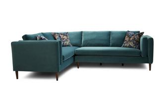 Right Hand Facing Arm 3 Seater Corner Sofa Luxe Velvet