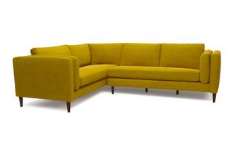 Eden Right Hand Facing Arm 3 Seater Corner Sofa Luxe Velvet
