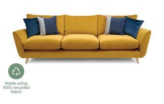 Velvet Grand Sofa
