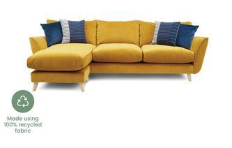 Velvet Grand Lounger Sofa