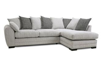 Pillow Back Left Hand Facing Arm Open End Corner Sofa