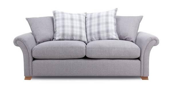 Edwin 3 Seater Pillow Back Sofa