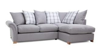 Edwin Left Hand Facing Pillow Back Corner Sofa