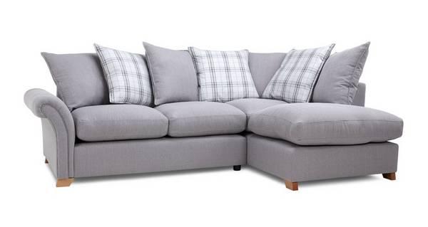 Edwin Left Hand Facing Pillow Back Corner Sofa