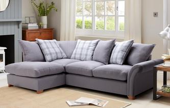 Edwin Right Hand Facing Pillow Back Corner Sofa Arran
