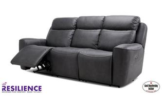 Fabric 3 Seater Power Recliner with Headrests