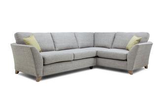 Left Hand Facing 3 Seater Formal Back Corner Sofa Elban