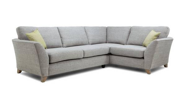 Elban Left Hand Facing 3 Seater Formal Back Corner Sofa
