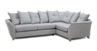 Elban Left Hand Facing 3 Seater Pillow Back Corner Sofa