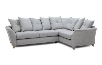 Left Hand Facing 3 Seater Pillow Back Corner Sofa Elban
