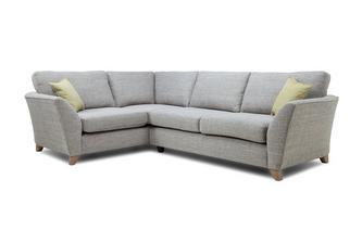 Right Hand Facing 3 Seater Formal Back Corner Sofa Elban