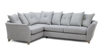 Elban Right Hand Facing 3 Seater Pillow Back Corner Sofa