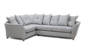 Right Hand Facing 3 Seater Pillow Back Corner Sofa Elban