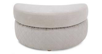 Eleanor Half Moon Footstool