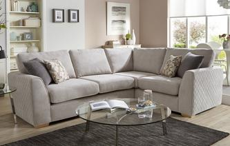 Eleanor Left Hand Facing Deluxe Corner Sofa Bed Sherbet