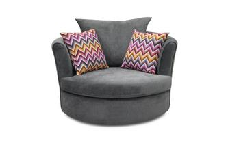 Large Swivel Chair 2 Pattern Scatters