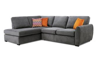 Right Hand Facing Arm Open End Deluxe Corner Sofabed