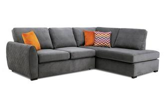 Left Hand Facing Arm Open End Deluxe Corner Sofabed