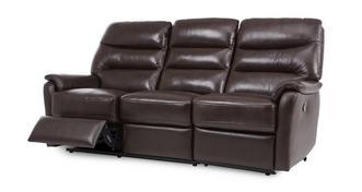 Elegant 3-zitter handbediende recliner