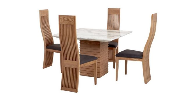 53de6f00e0b2 Elena  Square Dining Table   Set of 4 Dining Chairs. 36 0 °