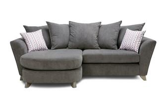 Eliana Cord Pillow Back 4 Seater Lounger Sofa Eliana Cord