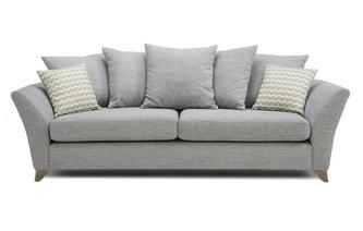 4 Seater Pillow Back Sofa Ellaria