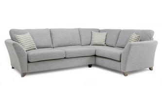 Left Hand Facing 3 Seater Formal Back Corner Sofa Ellaria