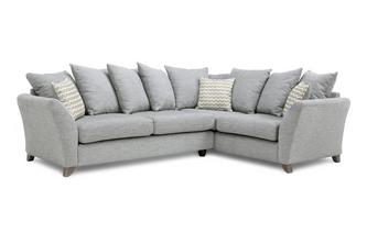 Left Hand Facing 3 Seater Pillow Back Corner Sofa Ellaria