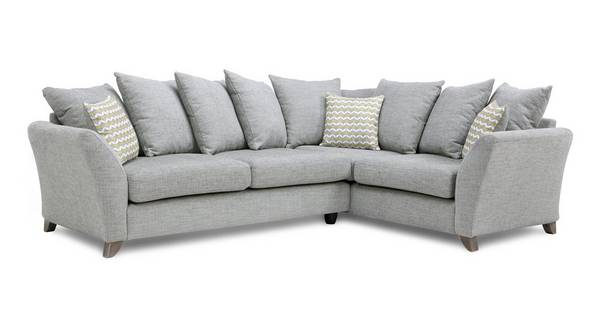 Ellaria Left Hand Facing 3 Seater Pillow Back Corner Sofa