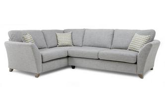 Right Hand Facing 3 Seater Formal Back Corner Sofa Ellaria