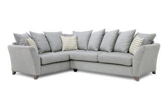Right Hand Facing 3 Seater Pillow Back Corner Sofa Ellaria